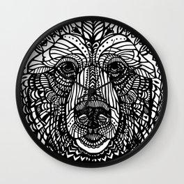 Black lace bear Wall Clock