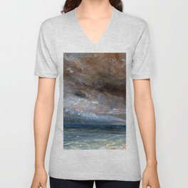 "John Constable ""Stormy Sea, Brighton"" Unisex V-Neck"