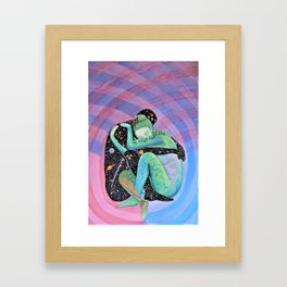 Space Earth Love Painting Nature Soul Mates Couple Wedding Art Tapestry (Infinite Love) Framed Art Print