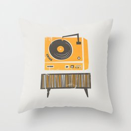 Vinyl Deck Throw Pillow