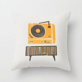 Vinyl Deck Throw Pillow