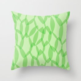 Overlapping Leaves - Light Green Throw Pillow