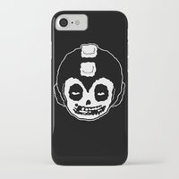 mega man iPhone & iPod Cases featuring MISFITS MEGA MAN SKULL by UNDEAD MISTER / MRCLV