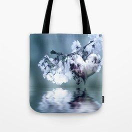 Frühlingsherz blue Tote Bag