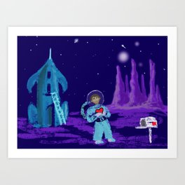 Long Distance Valentine Art Print