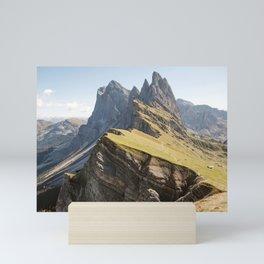 Seceda Italian Dolomites Mountains Mini Art Print