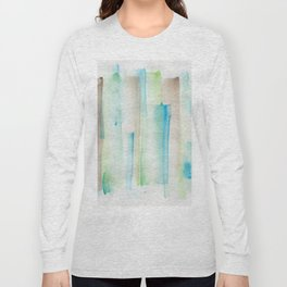 180713 Watercolor Play 1| Watercolor Brush Strokes Long Sleeve T-shirt