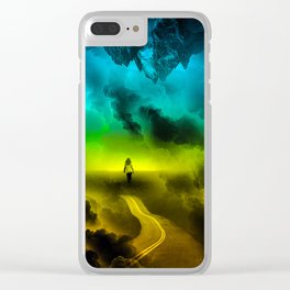 Psychedelic Girl Clear iPhone Case