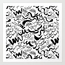 Wavy stripes Art Print
