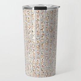 hieroglyphs pattern Travel Mug