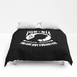 POW MIA - Prisoner of War - Missing in Action flag Comforters