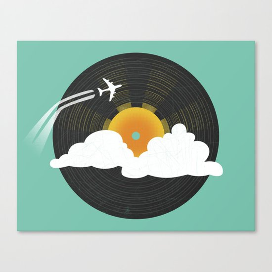 Sunburst Records Canvas Print
