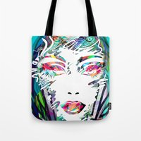 make up Tote Bags featuring Make Up by Irmak Akcadogan