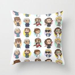 Emoji 1D Throw Pillow