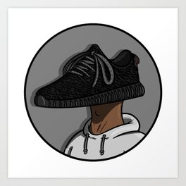 Sneaker Head - 350 Boost Art Print