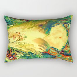 ART  PRINT/NUDE MERMAID LADYKASHMIR MOBILE DEVICE /LAPTOP/I POD / Rectangular Pillow