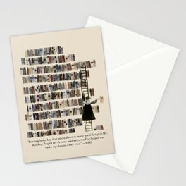 RBG in Her Library Stationery Cards