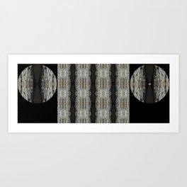 Oak Tree Bark Vertical Pattern by Debra Cortese Designs Art Print