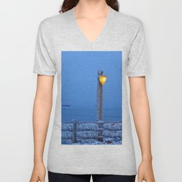 Frosted Light and Ship Unisex V-Neck