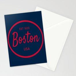 Boston Vintage Established USA Print Stationery Cards