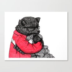Furry Canvas Print