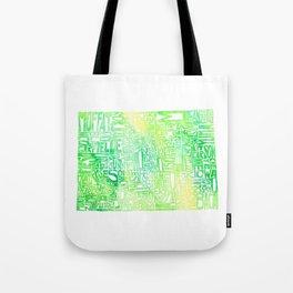 Typographic Colorado - green watercolor map Tote Bag