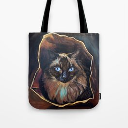 The Ragdoll Cat Is in the Bag Tote Bag