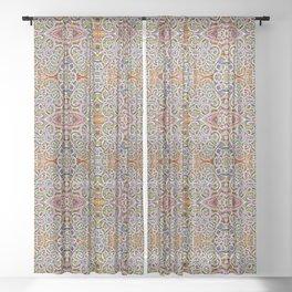 Rites of Spring Ornate Pattern Sheer Curtain