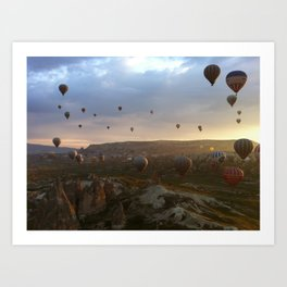 Cappadocia sunrise Art Print