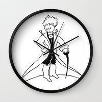 the little prince Wall Clocks featuring Little Prince by franzgoria