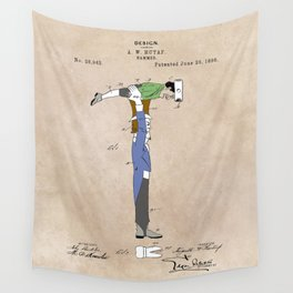 patent Hammer Wall Tapestry