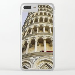 Pisa leaning tower Clear iPhone Case