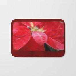 Mottled Red Poinsettia 2 Blank P5F0 Bath Mat