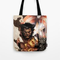 x men Tote Bags featuring X-MEN by Thorin