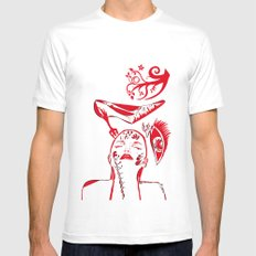 abstract woman Mens Fitted Tee White MEDIUM