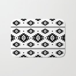 Black Aztec Tribal Diamonds Bath Mat