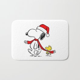 snoopy and woodstock Bath Mat