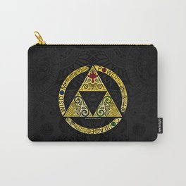 Gold Triforce Circle Carry-All Pouch