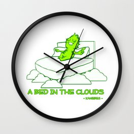 A Bed in the Clouds Wall Clock
