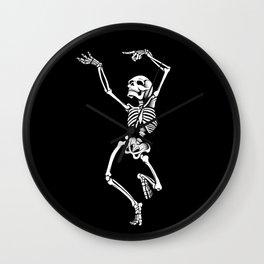 Dancing Skelleton Wall Clock