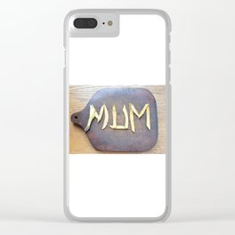Mother's Day design with banana skin. Clear iPhone Case