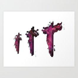 Three Crosses at Golgotha Art Print