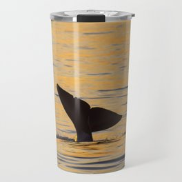 Baby orca sunset fluke Travel Mug