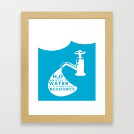 WATER CONSERVATION Framed Art Print