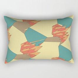 Lake Wind Desert Fire Rectangular Pillow