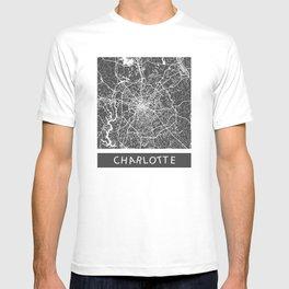 Charlotte map blue T-shirt