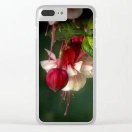 June Fuchsias Clear iPhone Case