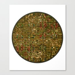 Grunge Wall Of Gold One Canvas Print