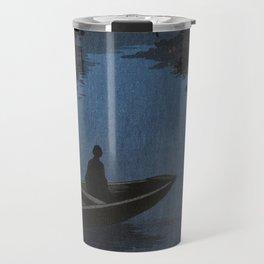 Boat with Lantern Beneath Shubi Pine Travel Mug