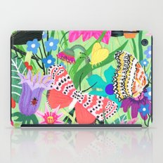 Butterfly and Moths Pattern - Green iPad Case